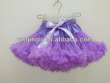 High quality lavender chiffon Fluffy pettiskirt tutu for Girls party skirt for kids wholesale baby girls petticoat