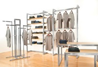 Fashion metal display racks and accessories for clothing store garment store floor display