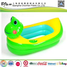 cn factory safety cute kids water play toys swim pool pvc frog inflatable bathtub
