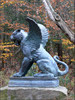 Bronze Flying Lion With Wing Statue For Garden Decoration