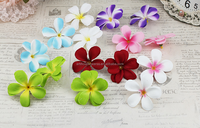 2015 wholesale artificial colourfast dried plumeria flower