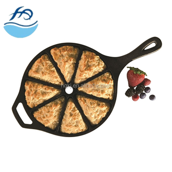 CP21 Cast Iron Cornbread Wedge Pan Frying Pan Kitchenware Fryer