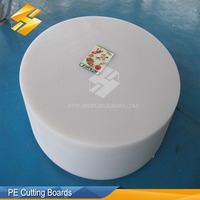 Food Grade Polyethylene White PE Round Chopping Board Supplier