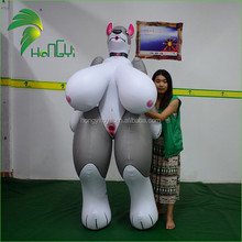 Hongyi Custom Made PVC Inflatable Animal Sex Cartoon Toys/Giant Inflatable Sexy Girl With Huge Breasts And SPH