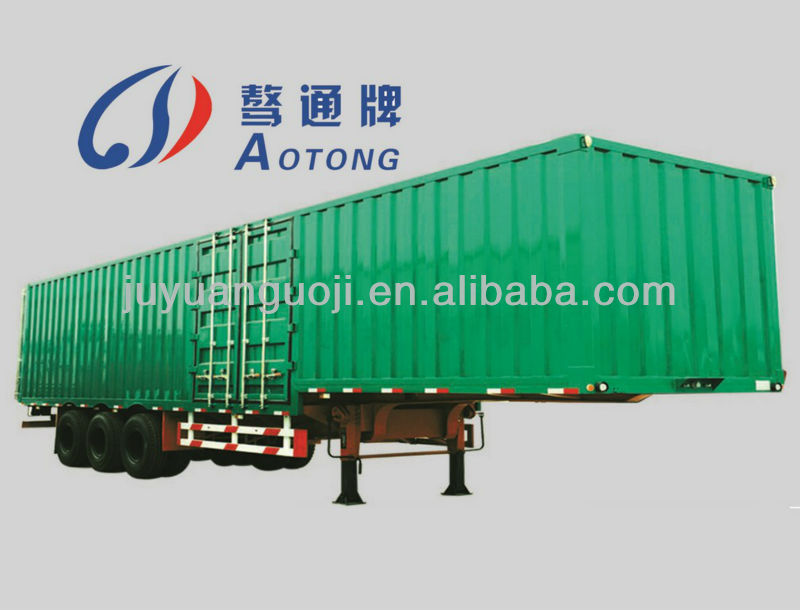 best selling cargo box house transport semi trailer,3 axles side open truck,5 pairs of semi trailer door