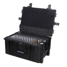 F2-16C Hard Case Laptop Trolley - 16 Tables 10'+1 LaptopTablet Charging Cabinet - Shcool Furniture