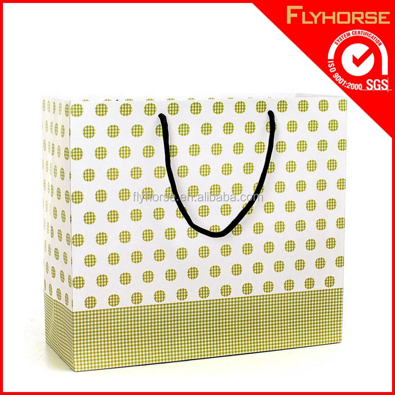 Foldable grocery oem prined paper bag for shopping