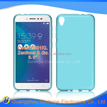clear Transparent tpu soft cell phone case for Asus Zenfone Live ZB501KL Zenfone 3 Go tpu cover