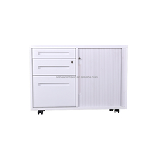 disassembled portable 3 drawer metal mobile combined cabinet