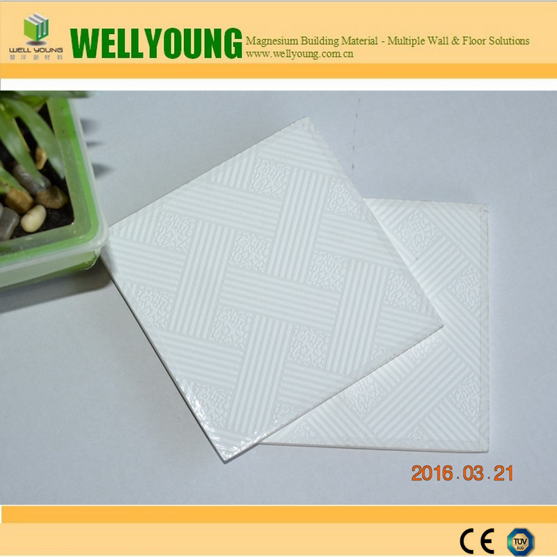 Emulsion Paint yellow resistant gypsum pvc ceiling panels in china