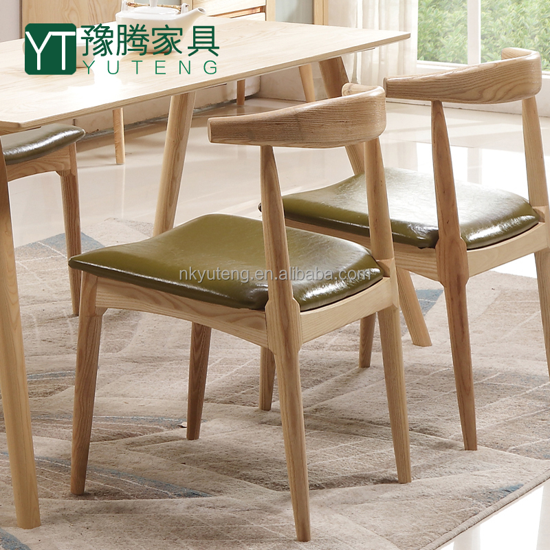 Modern fashion Sweden style wood dining chair stool cloth seat