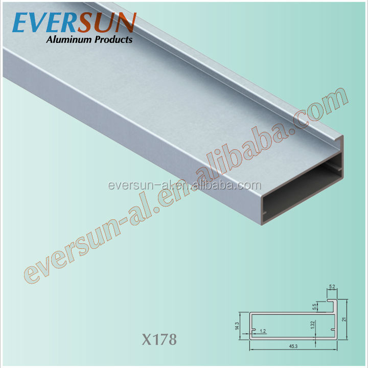 Sand blasting anodizing aluminum with glass panel