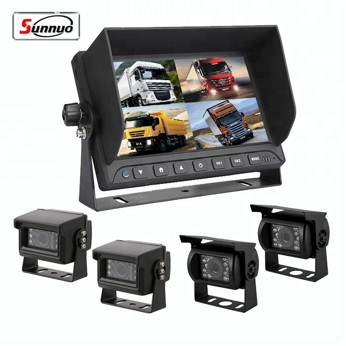 7inch Heavy Duty 24V 4cameras CCD Bus/Truck Rear View Camera System