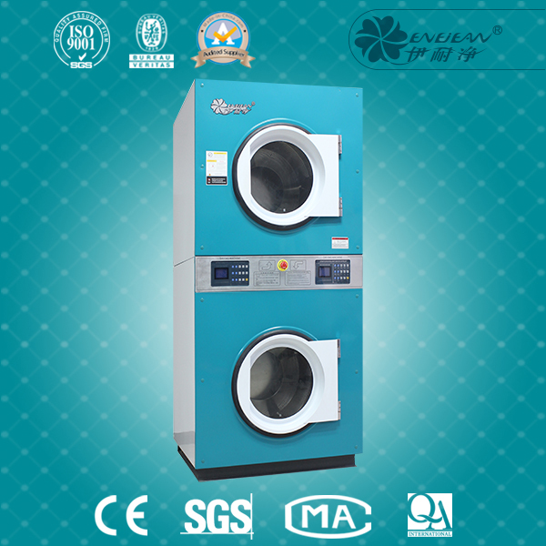Industrial double stacked laundry clothes dryer with good prices coin operated YHG 215
