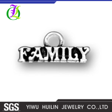 CN185170 Yiwu Huilin Jewelry Wholesale Tibetan Silver Tone pendant Family Alphabet Letter custom made charms