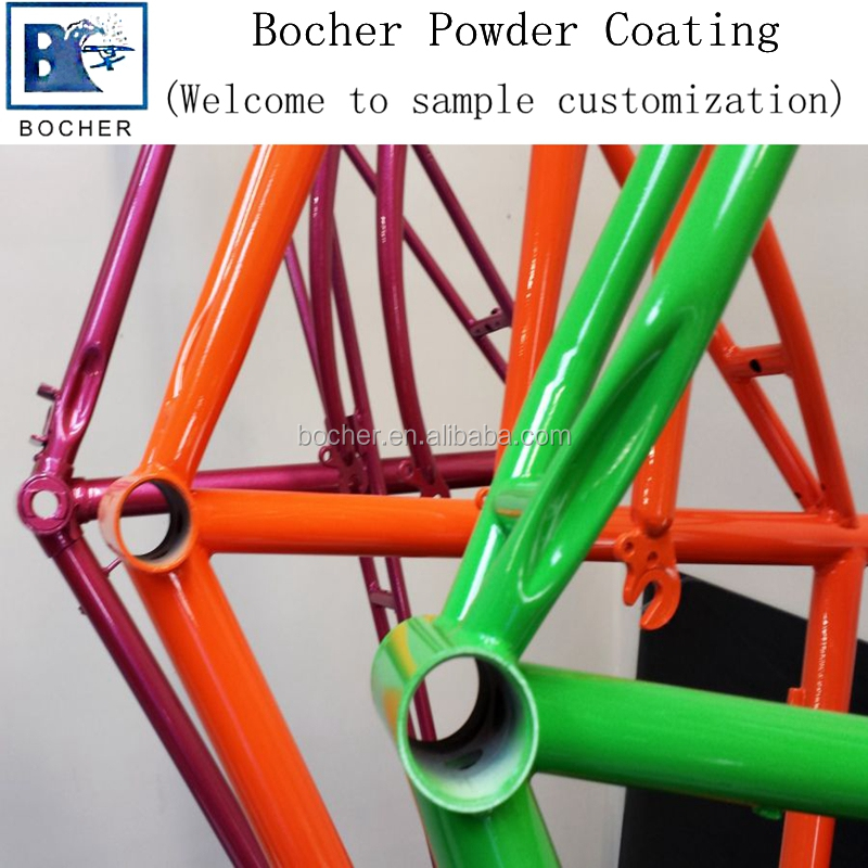 High gloss thermosetting spray powder coating