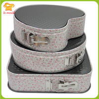 Baking tools 3 times square round heart buckle live bottom cake mould birthday cake mould