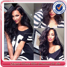 Alibaba Express Hair 100% virgin brazilian human Hair full lace wig sew in