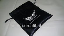 High quality drawstring satin lingerie bag