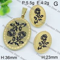Impressive flower top sales design magnetic jewelry set custom