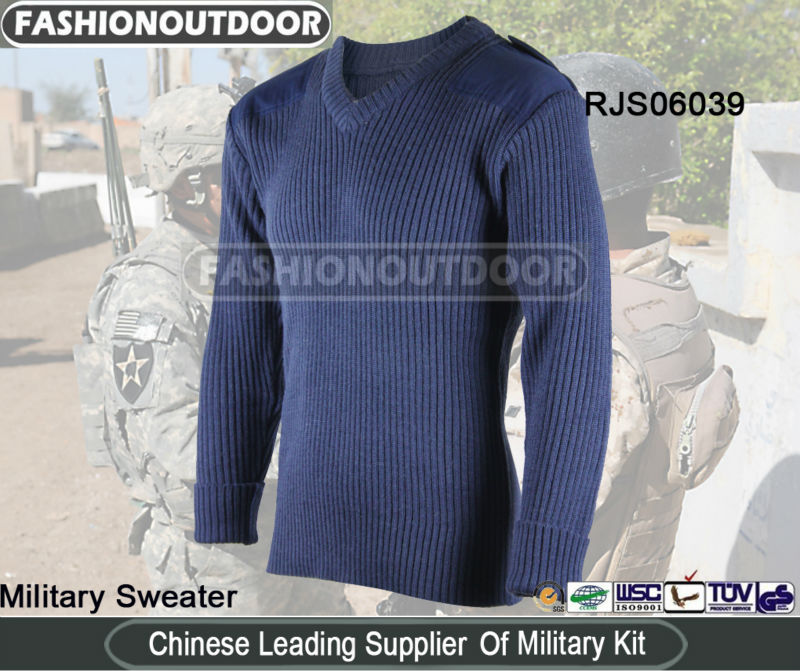 AKMAX Navy Blue Pure Wool Sweater Design from fashionoutdoor