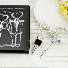 Love Heart Corkscrew Wine <strong>Bottle</strong> <strong>Opener</strong> + Wine Stopper Wedding Gift Favors <strong>Bottle</strong> <strong>Opener</strong> Set