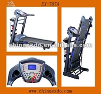 Remote Control Fodlable Flat Multi Function Treadmill Meter