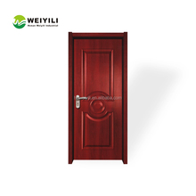Interior PVC solid wood door with PVC coated interior french door
