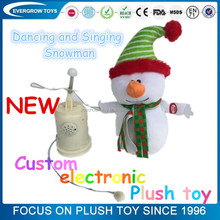 plush musical christmas animated snowman electronic plush toys