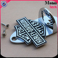 Bulk top quality metal silver color filled logo wall bottle opener parts with screws
