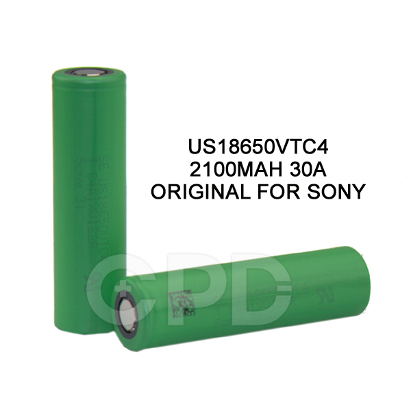 Authentic for sony 18650 vtc4, US 18650 VTC4 High drain battery 18650 2100mAh (high Power cell 30A)us18650vt