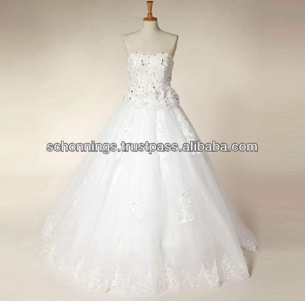 Hot Selling A-line High Quality Made Designer Lace Wedding Dress