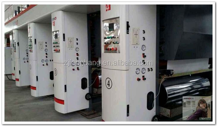 Seven Vector motor High-speed rotogravure printing machine