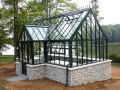 wrought iron gazebo with glass