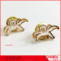 flower shape metal lapel pin