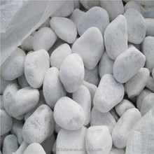 White Marble Machine Made Pebble Stone Tumbled Gravel for Walkway/Driveway Cobbles