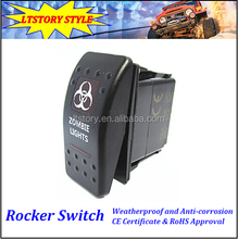 Carling Switch Momentary Three Position Switch Momentary spring loaded 2-way rocker switch
