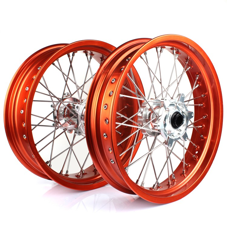 17 inch Motorcycle Spoke Wheel For KTM Supermoto