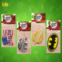promotion gift leaves and elephant, strong batman logo shape paper air freshener for kids