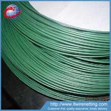 Dark green metal plastic coated wire for binding