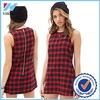 Yihao Trade Assurance 2015 Women Dress Casual Dresses red plaid print summer fashion dress