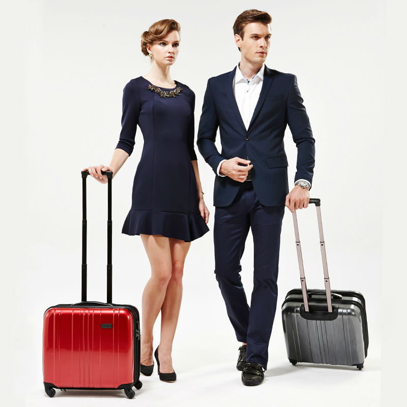 Men wheeled new polycarbonate PC business trolley laptop bag