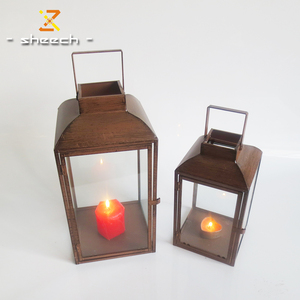 windproof vintage design candle holder cheap metal table lanterns