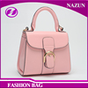 2016 New Arrival Stylish pink unique pu leather Hand Bags with belt bucket Collection wholesale