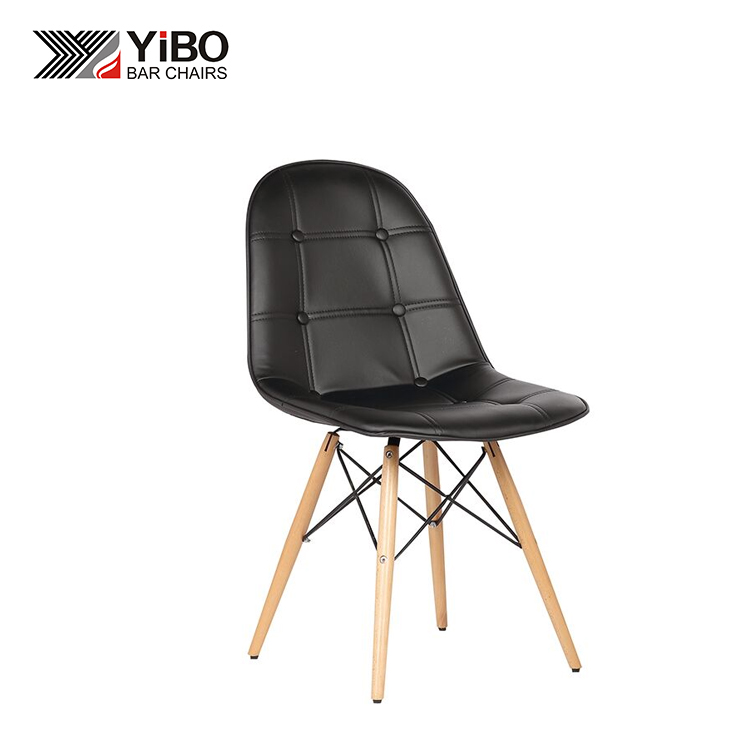 China Factory High Quality Sponge and Wood Leather Office PU Chair