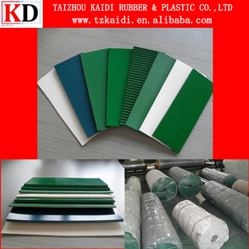KAIDI New Made PVC Conveyor Belt For Food and Light Industry Conveying