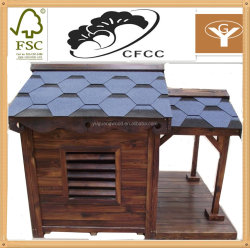 wood room waterproof kennel with a view ,outdoor wooden dog kennel