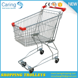 cheap Zinc Asian type shopping trolley without bottom shelf for Russia market