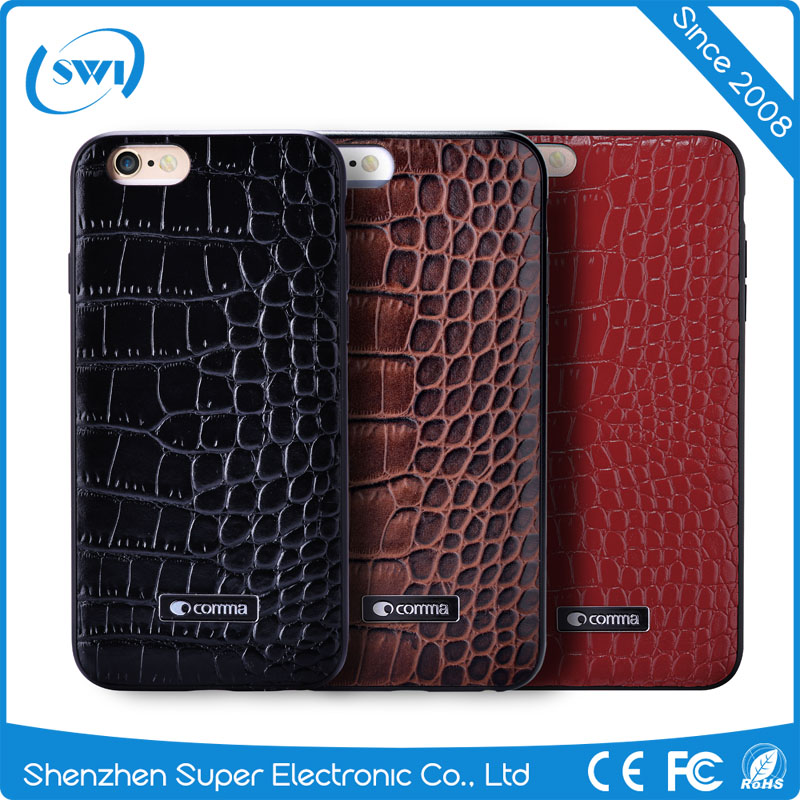 High End Fashion Genuine Leather Case for iPhone 6, Crocodile Skin Back Cover Leather Case for iPhone 6s