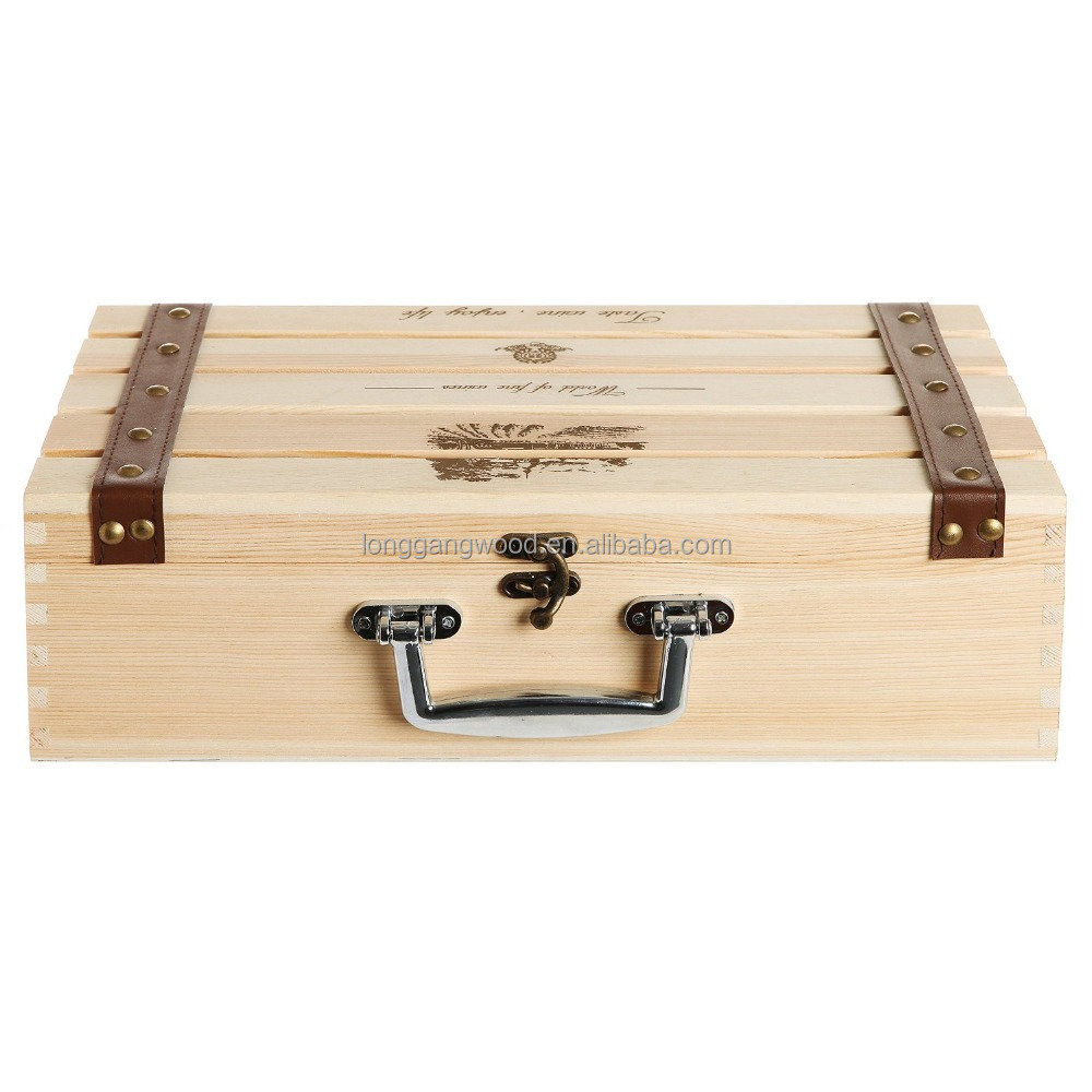 Wooden Wine Crate - Buy Traditional French Wooden Wine Box / Crate ...